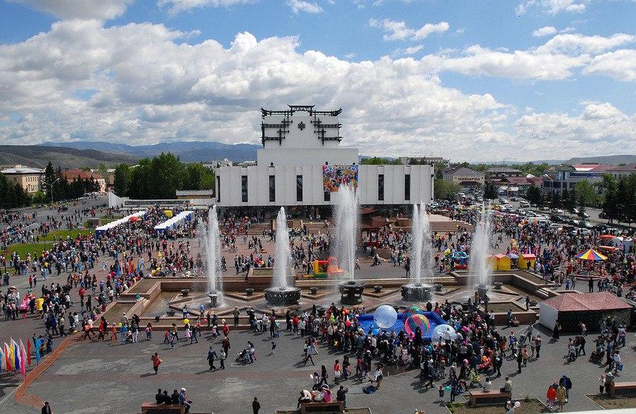 Праздничные мероприятия, приуроченные Дню города Кызыла.