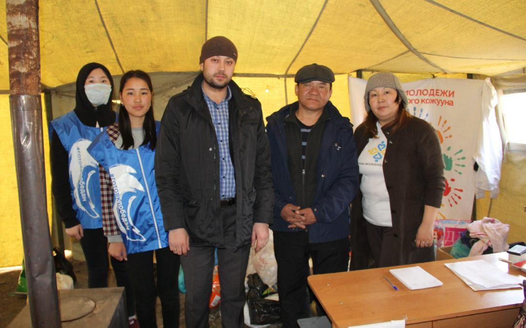 Сбор помощи жителям подтопленных домов пгт. Каа-Хем Кызылского кожууна.