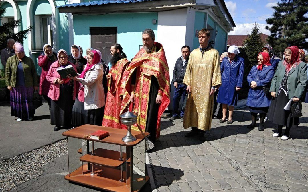 Центр гуманитарной помощи открылся при Свято-Троицком храме в г. Кызыле.Центр гуманитарной помощи открылся при Свято-Троицком храме в г. Кызыле.