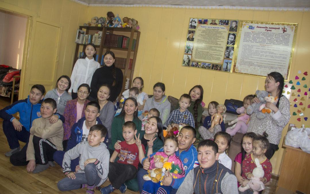 Благотворительная акция в отделении Центр социальной помощи семье и детям Кызылского Кожууна пгт. Каа-Хем.