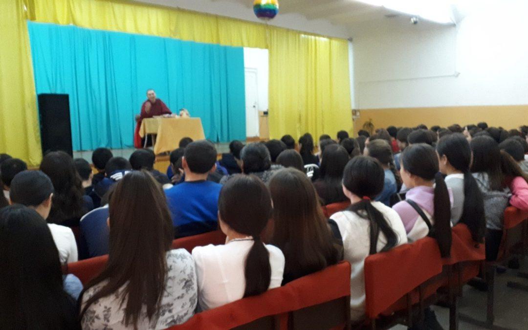 Встреча буддистского ламы Шолбан Башкы с учащимися